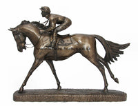 The Favourite Cold Cast Bronze Horse Racing Sculpture / Trophy / Gift