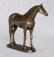 Small Thoroughbred Horse Cold Cast Bronze Equestrian Sculpture / Trophy / Gift