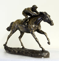 The Final Furlong Cold Cast Bronze Horse Racing Sculpture / Trophy / Gift
