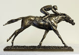 The Final Straight Cold Cast Bronze Horse Racing Sculpture / Trophy / Gift