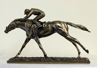 The Final Straight Bronze Horse Racing Trophy