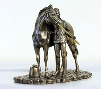 Girl & Pony Bronze Equestrian Trophy