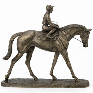 Going to the Post Cold Cast Bronze Horseracing Trophy (Small Version)