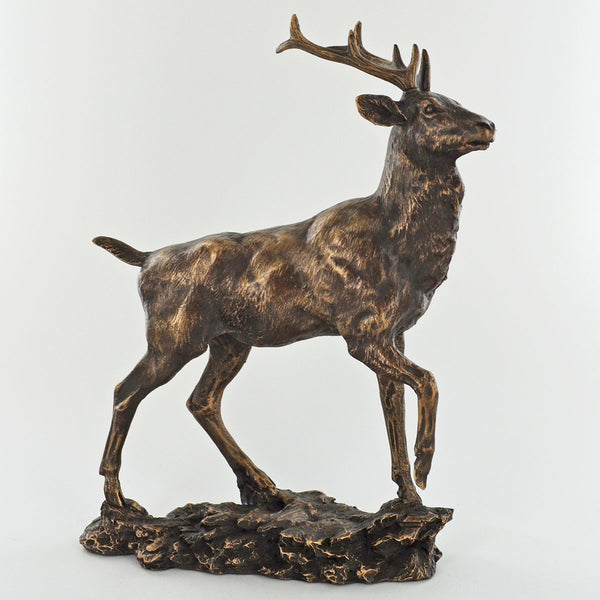 Highland Monarch Cold Cast Bronze Stag Sculpture / Trophy by David Geenty