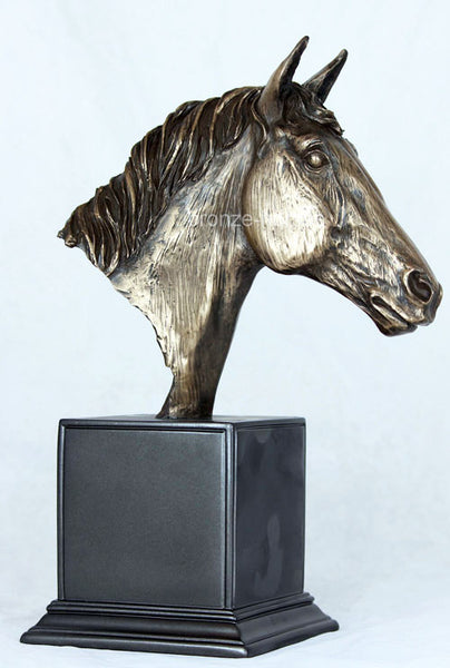 Magnificent Horse Head in Cold Cast Bronze