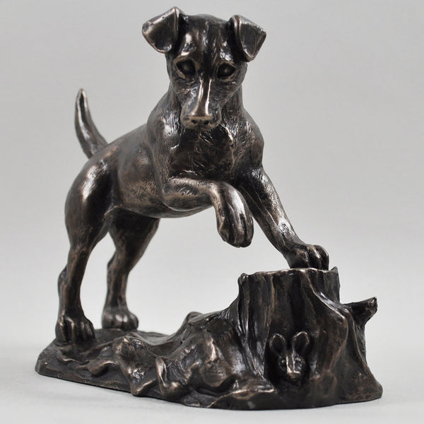 Jack Russell Dog Cold Cast Bronze Sculpture / Trophy / Gift