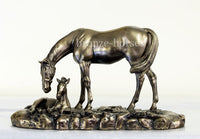 Mare & Foal Bronze Equestrian Horse Trophy