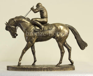 On Parade Bronze Horseracing Racehorse Trophy (small version)