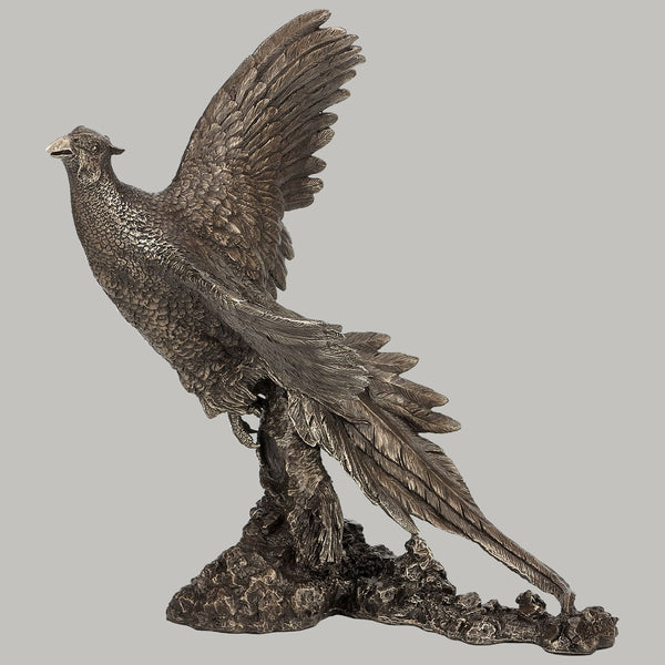 Pheasant Sculpture Cold Cast Bronze Sculpture / Trophy / Gift by David Geenty