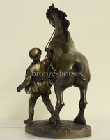 Rearing Shire Horse Cold Cast Bronze Equestrian Sculpture / Trophy / Gift Handmade in the UK