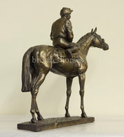 Sport of Kings Cold Cast Bronze Racehorse Horseracing Sculpture / Trophy / Gift (Small version)