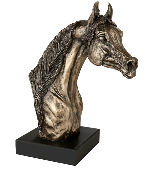 Arab Stallion Head Cold Cast Bronze Equestrian Sculpture / Trophy / Gift
