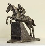 Steeplechaser Cold Cast Bronze Horse Racing Sculpture / Trophy / Gift