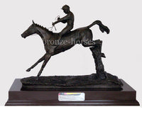 Clearing the Last Cold Cast Bronze Racing Sculpture / Trophy / Gift (Small version)