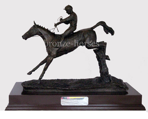 Clearing the Last Cold Cast Bronze Racing Trophy (Small version)
