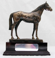 Epsom Dandy Cold Cast Bronze Thoroughbred Racehorse Sculpture / Trophy / Gift