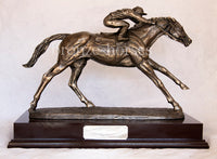 On the Flat Cold Cast Bronze Racehorse Horseracing Sculpture / Trophy / Gift
