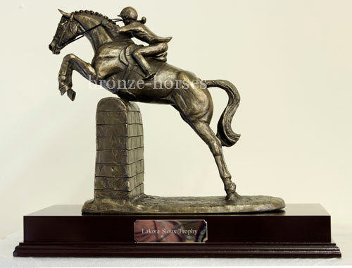 Lady Showjumper Cold Cast Bronze Equestrian Showjumping Sculpture / Trophy / Gift