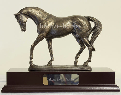 Nobility Cold Cast Bronze Horse Sculpture / Trophy / Gift
