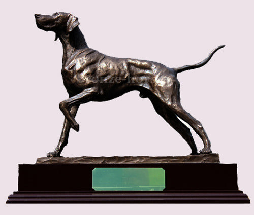 Pointer Dog Bronze Sculpture / Trophy by David Geenty