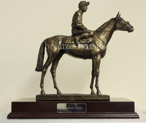 Sport of Kings Bronze Racehorse Horseracing Trophy (Small version)