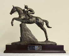Steeplechaser Bronze Horse Racing Trophy