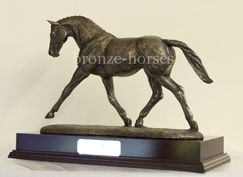 Warmblood Stallion Bronze Equestrian Trophy