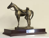 Unsaddling the 1st Cold Cast Bronze Racing Sculpture / Trophy / Gift (Small version)