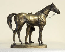 Unsaddling the 1st Cold Cast Bronze Racing Trophy (Small version)