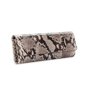 AMEESHA Natural Python Baguette Clutch by LAYKH