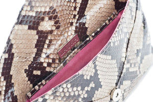 ANUPI Natural Python Envelope Clutch By LAYKH