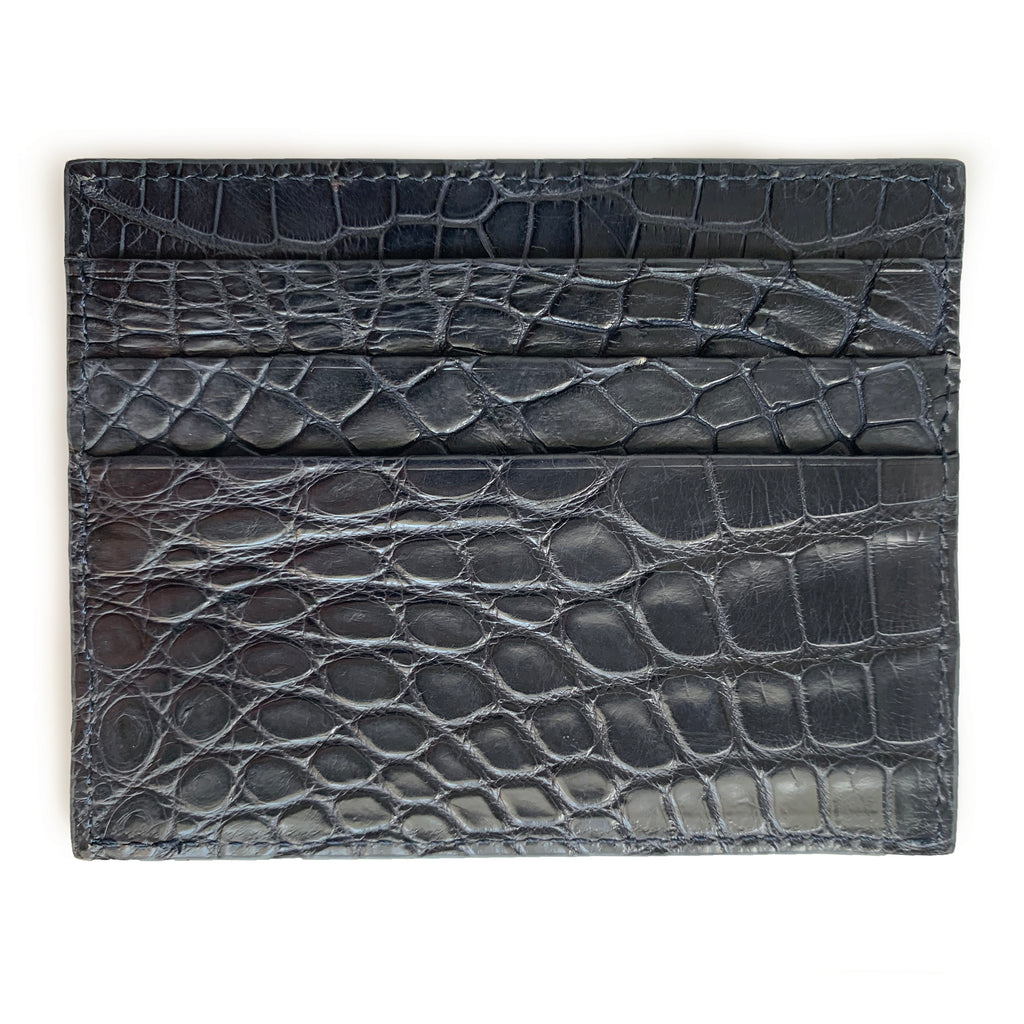 NAVY BLUE CROCODILE CARDHOLDER By LAYKH