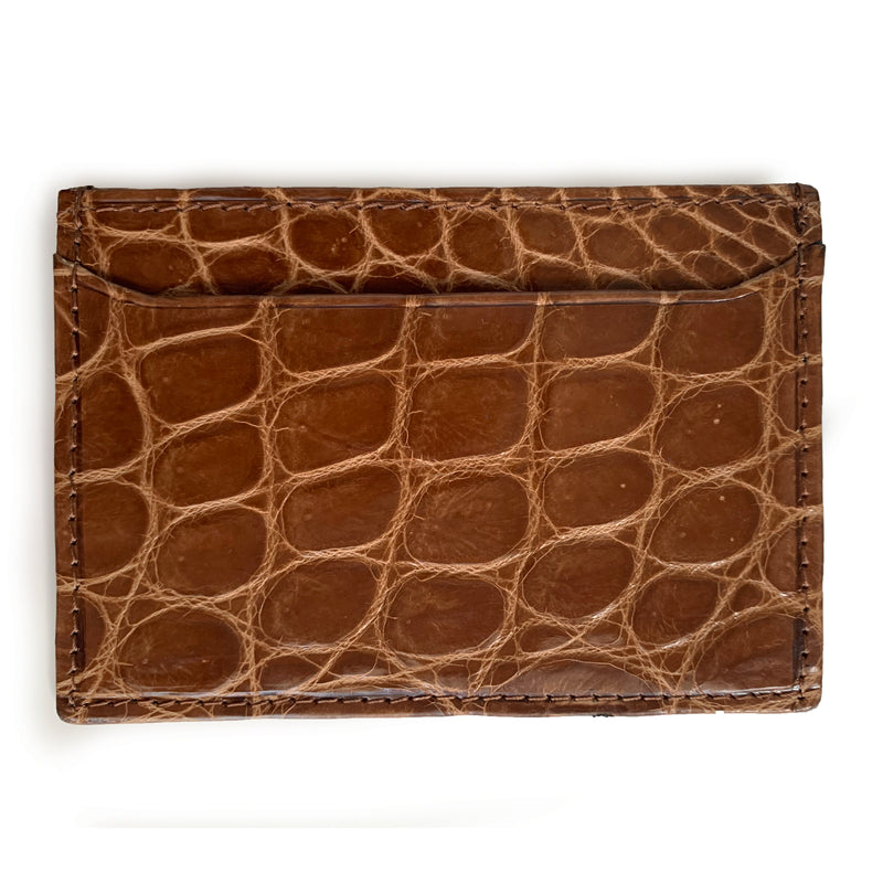 HONEY BROWN CROCODILE CARDHOLDER By LAYKH