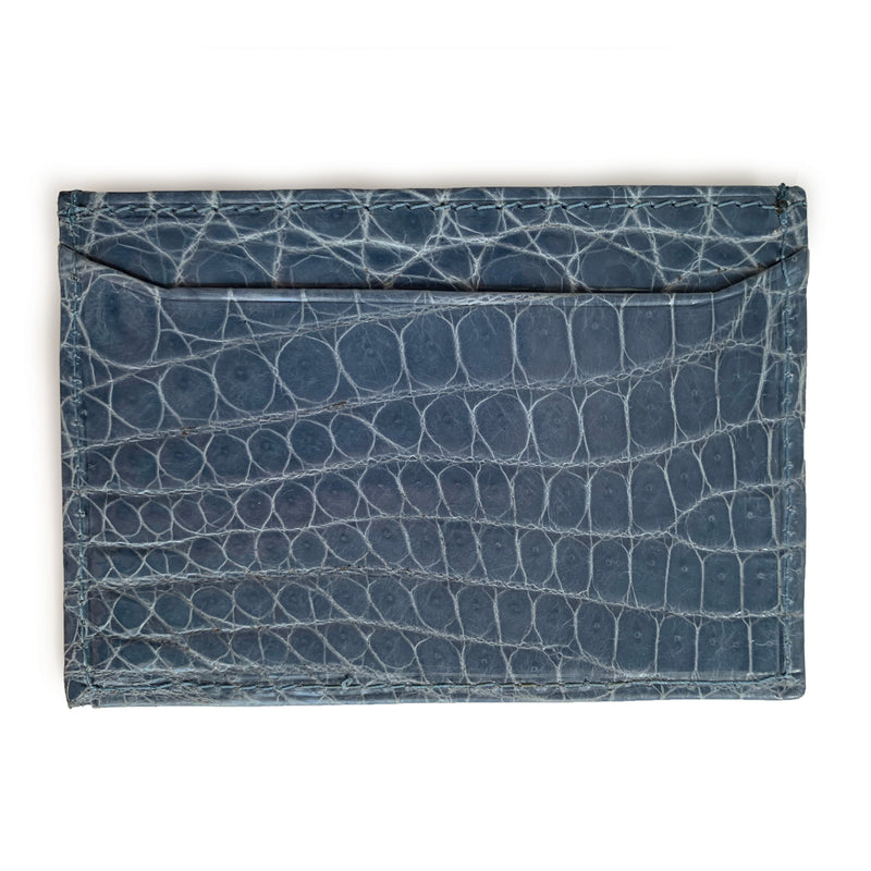 SKY BLUE CROCODILE CARDHOLDER By LAYKH