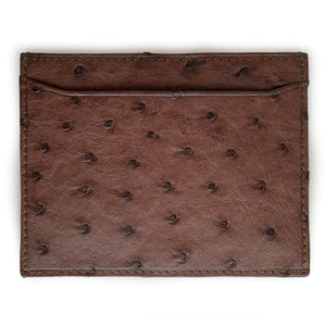 BROWN OSTRICH CARDHOLDER By LAYKH