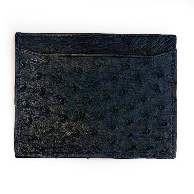 NAVY BLUE OSTRICH CARDHOLDER By LAYKH