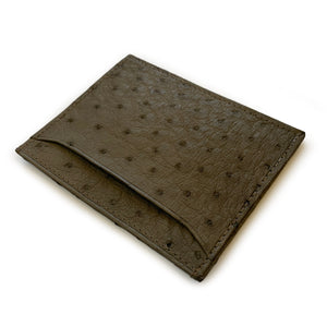 SERPENTINE GREY OSTRICH CARDHOLDER by LAYKH