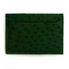 FOREST GREEN OSTRICH CARDHOLDER By LAYKH