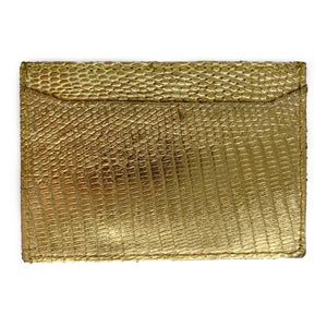 GOLD LIZARD CARDHOLDER By LAYKH