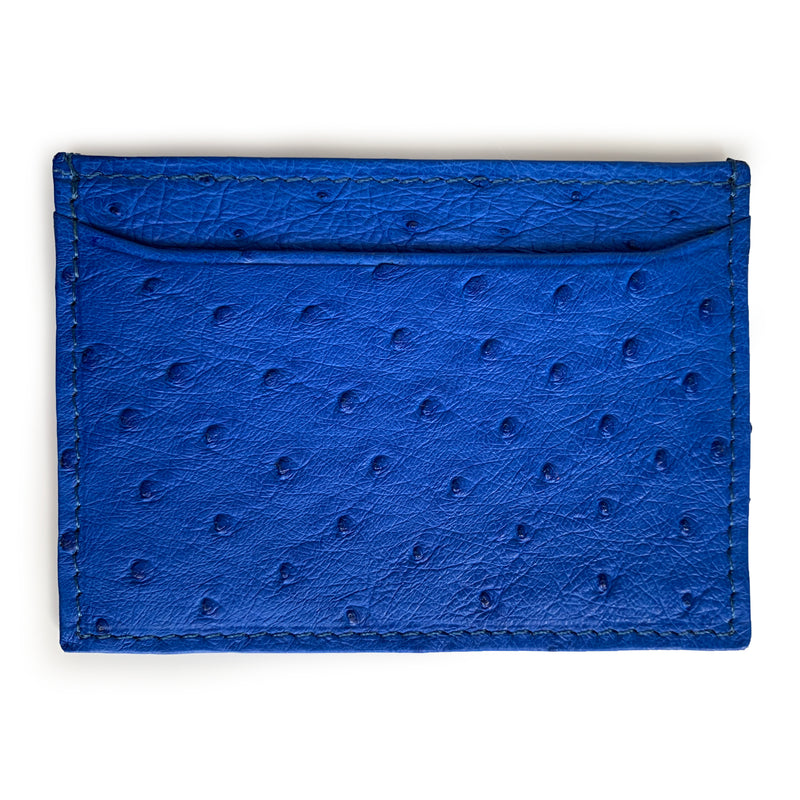 MOD BLUE OSTRICH CARDHOLDER (Small) By LAYKH