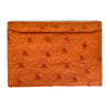 ORANGE OSTRICH CARDHOLDER (Small) By LAYKH
