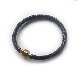 BLACK STINGRAY LEATHER BRACELET For Her by LAYKH