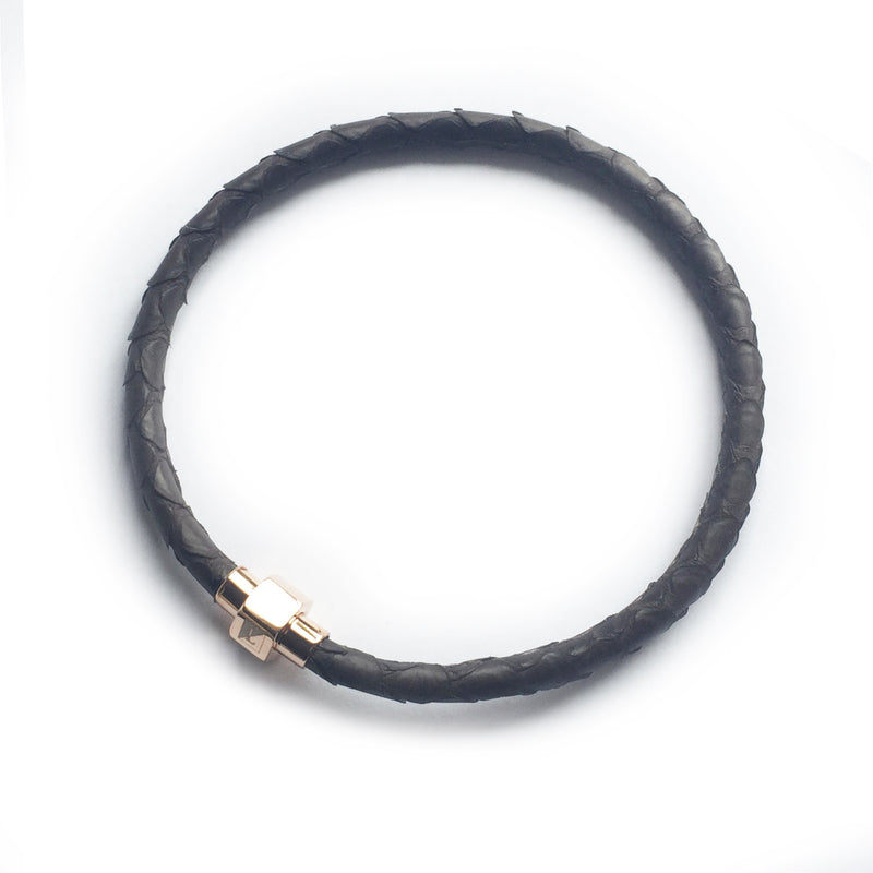 BROWN PYTHON LEATHER BRACELET For Him