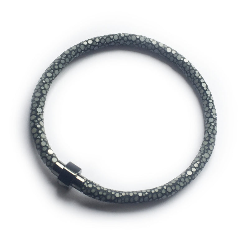 GREY STINGRAY LEATHER BRACELET For Him