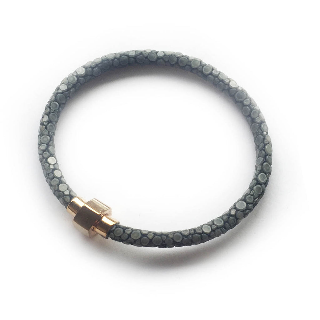 GREY STINGRAY LEATHER BRACELET For Her by LAYKH
