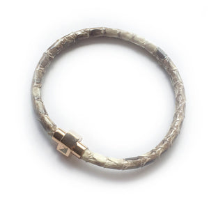 NATURAL PYTHON LEATHER BRACELET For Her by LAYKH