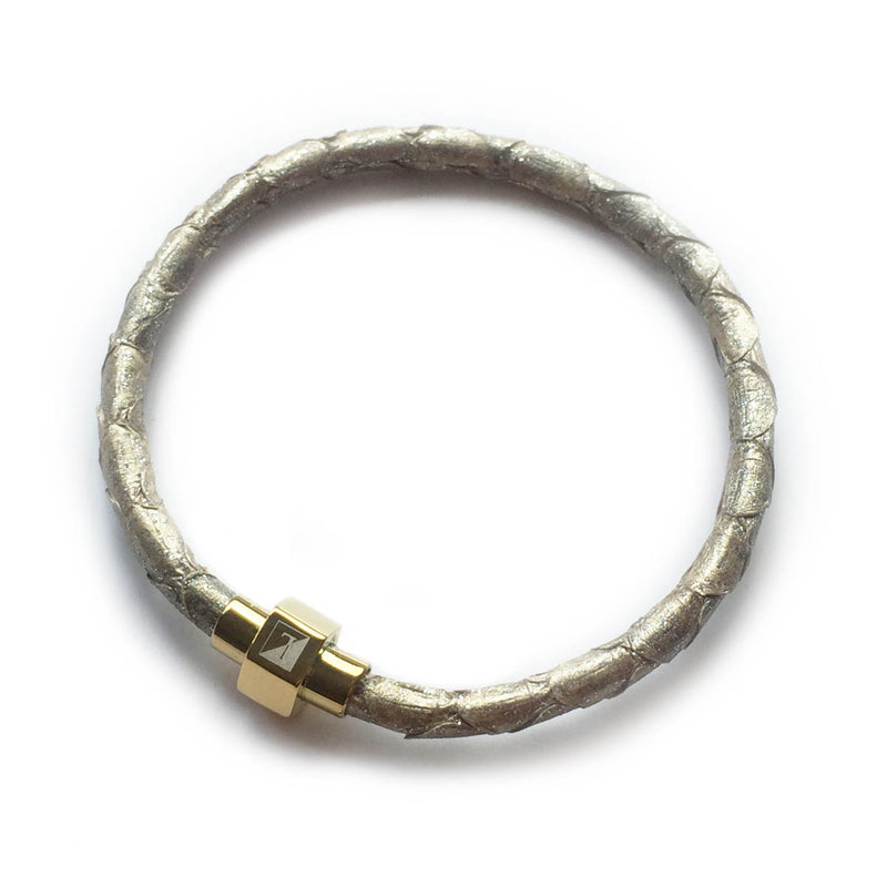 CHAMPAGNE PYTHON LEATHER BRACELET For Her By LAYKH