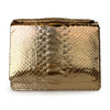 LOLA Rose Gold Python Clutch