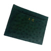 EMBOSSED OSTRICH CARDHOLDER (Small) By LAYKH