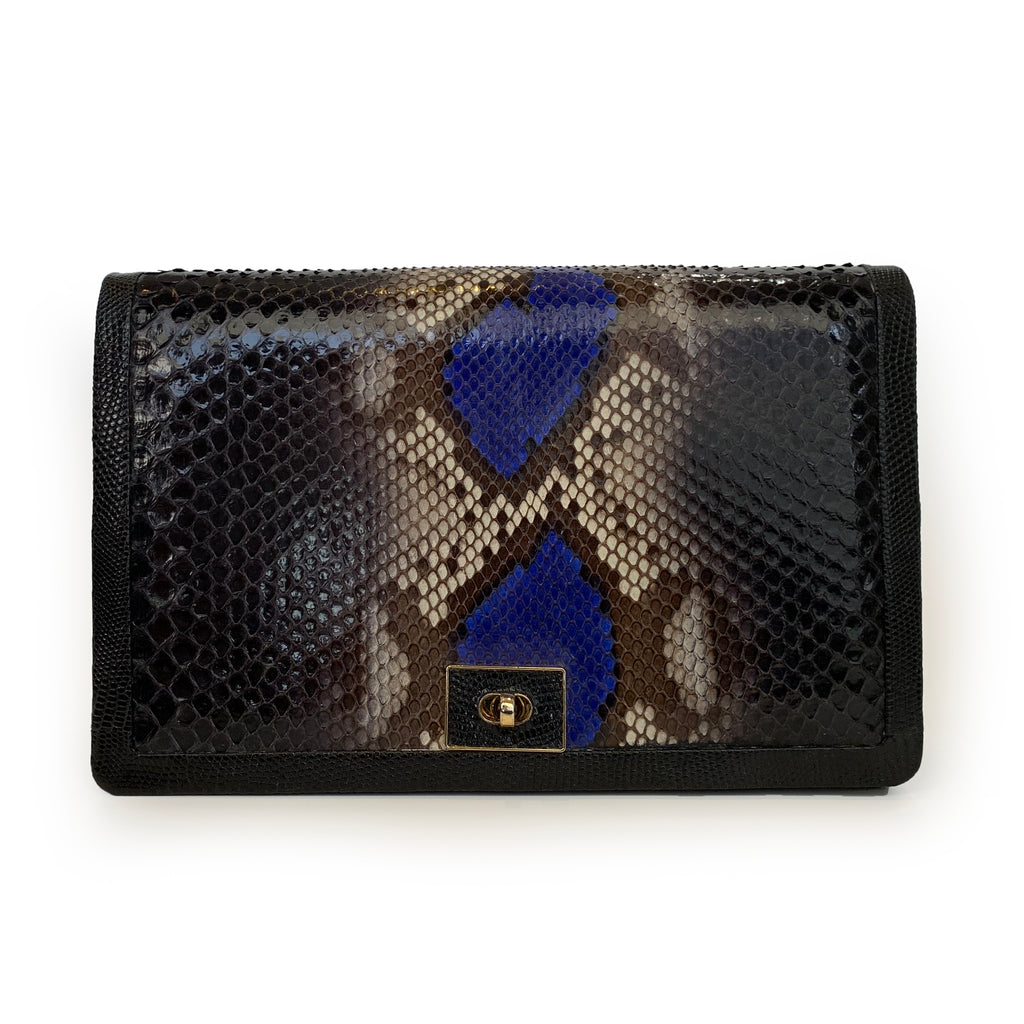 OLA (Large) Multi Python and Lizard Cross Body Clutch Bag